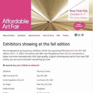 Affordable art fair nyc, denitza