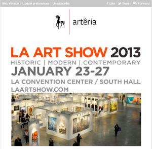 LA art show-denitza-arteria gallery